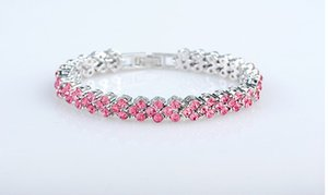 The manufacturers are actually making Rome bracelet, bracelet, wholesale zircon, crystal jewelry, Korean version, European and American acce