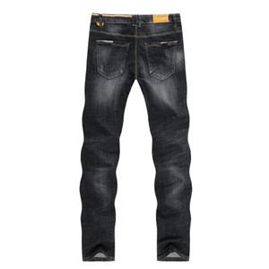Kstun Jeans Para Preto Outono Homens Spring Hetero Slim Fit Denim Pants alta estiramento Casual envio Calças masculinas Homem Homme gratuito