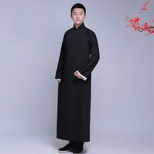 Nouvelle arrivée mâle cheongsam homme coton costume style chinois robe longue veste costume traditionnel mandarin chinois Tang robe ethnique Vêtements
