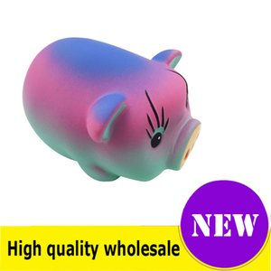 Squishy pig alta calidad Jumbo Slow Rising Soft Oversize Phone Squeeze toys Colgante Anti Stress Kid Cartoon Toy Descompresión Toy