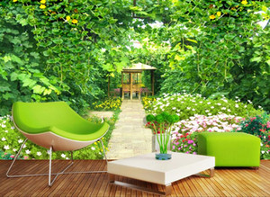 European 3d stereoscopic wallpaper Dandelion Green vine garden flowers and custom 3d murals living room non-woven wallpaper decoration home