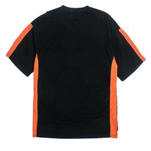 Color Block Patchwork Camisetas manga corta para hombre Hip Hop Casual Streetwear camisetas 2018 Moda verano Solid Color Tees