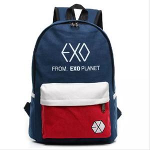 Kız çocuk Casual Seyahat EXO çanta Unisex İçin Kadın Renkli Tuval Sırt Çantası yeni Sırt Çantası Erkekler Öğrenci Okul Çantaları