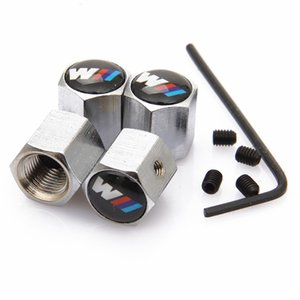 HOT 4pcs / lot bloqueável Logo Car Anti-Theft do pneu da roda válvulas dos pneus Stem Air Caps Airtight Capa para Jaguar Benz BMW M3 M5 e60 e90 X1 X3 X5
