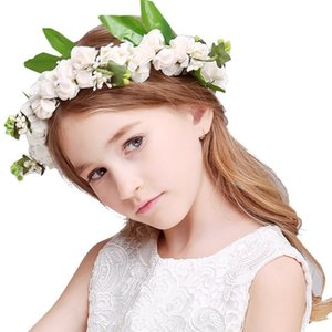 Boda novia tocado de dama de honor Princesa guirnalda y pulsera flor Accesorios para el cabello de baile 3 combinaciones de colores.
