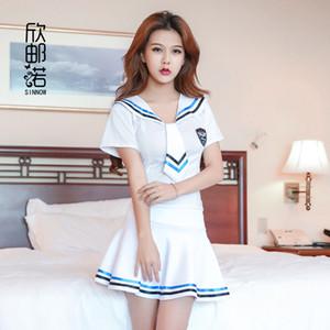 2018 nuevas chicas de Lencería Sexy Escuela de marinero uniforme de la escuela de la moda de la clase Cosplay Woaixdd sexy Uniforme Escolar C18111601