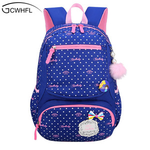 Gcwhfl 2017 New Lovely Princess School Bags For Girls Dot Fashion Knapsack Primary School Backpacks Children Satchel Kids Bolsas