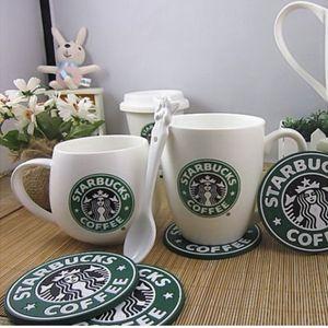 Coffee Coasters Cup Silikon Untersetzer Starbucks Cup Mat Meerjungfrau Circular Antiskid Coasters Wärmedämmung Pads Tischdekoration Kaffeematte