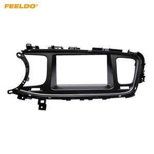FEELDO 2DIN Car CD DVD Radio Fascia Plate Panel Frame for KIA K5 2013 Panel Left Hand Dashboard Trim Mount Kit #5171