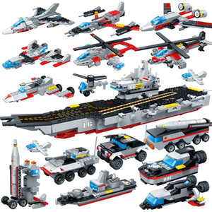 Nuclear-powered aircraft carrier 8709 eighty-eight warships puzzle gift children's students assembled building blocks educational toys11