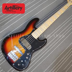 대포 공장 사용자 지정 JAZZ BASS 5 현베이스 기타 메이플 지판 태양 버스트 컬러 악기 상점