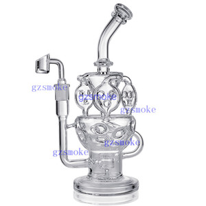 Recycler Bongs Honeycomb Bong Fab Egg Glass Pipe Cyclone Inline Oil Rig Percolator Dab Rigs Vortex Effect Water Pipes with Quartz Banger
