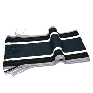 Mens Knitted Tassel Scarves 7 Colors Fashion Striped Scraf Free Shipping Winter Warm Shawls Unisex Couple Scarves