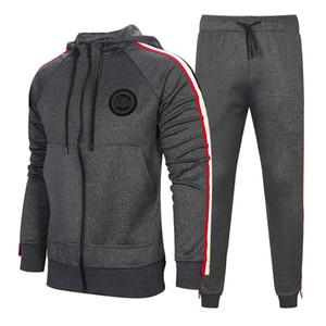 Chaqueta de chándal para los hombres 2 Piezas de la nueva manera de deporte de los hombres chándal con capucha de primavera ropa de otoño hoodies + pants