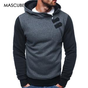 MASCUBE Hombres Conjuntos Streetwear Hombres Sudaderas Con Capucha Patchwork de Moda Hombre Hip Hop Abrigo Pullover Hombres Chándal Casual Masculino