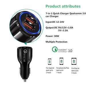 Hızlı Araç Şarj 9V 2A 12V1.2A QC3.0 hızlı şarj 3.1A Çift USB Adaptör Şarj paketi çoklu Doğrudan Şarj ile akıllı telefonlar