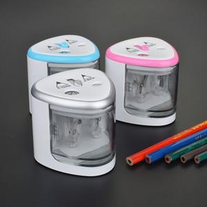 Taille-crayon électrique Utilisation de la batterie avec deux trous Taille-crayon électronique pour les crayons 6-8mm et 9-12mm