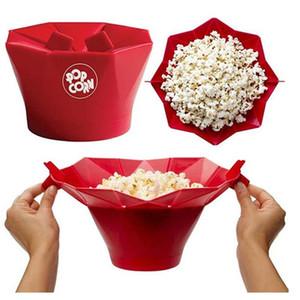 Bebê de alimentação da pipoca de microonda silicone Bowls 2018 Tools New Microwave Popcorn Silicone bacia Cozinha Fácil