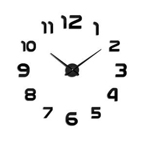 E-COEUS Acrilico + Orologi da parete Eva Faccia singola circolare stile antico 9 mm Foglio Decorare Soggiorno L Orologio da parete Home Decor