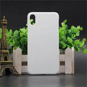 60pcs / lot 3d Sublimation White Phone Cases for iPhone 9 Plus DIY Design 3d Heat Transfer Printed Back Cover