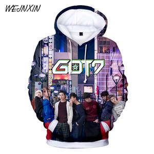 WEJNXIN Fashion 3D Kpop Got7 Felpe con cappuccio da donna Uomo Pullover Felpa Harajuku Hip Hop Cute Got 7 Tuta da donna Moletom