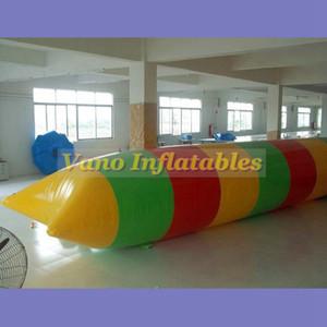 5x2 m Thrilling Gonfiabile Catapulta Acqua BLOB 0.9mm PVC Jump Diving Tower Gonfiabile Cuscino di Salto Trampolino Pompa Libera Il Trasporto