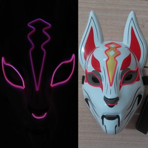 El flash de la luz fría Juego Fortress Night máscara Sky fox Adulto para niños Fiesta de Halloween Cosplay tocados de plástico Máscaras de iluminación LED Juguete