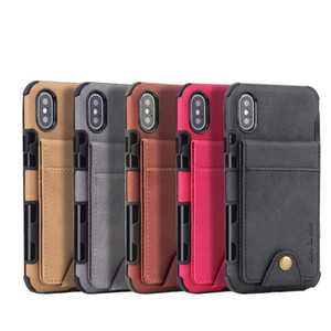 Chegada nova moda multi-funcional carteira de couro phone case para iphone xs max xr x 8 7 6 plus samsung note 9 s8 huawei