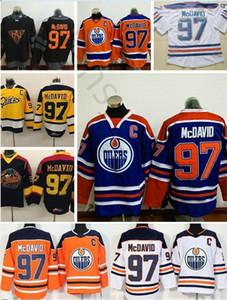 Oilers d'Edmonton # 97 McDavid Jersey Coupe du Monde Amérique du Nord WCH Hockey sur glace Stitched Otters d'Erie 97 McDavid College Maillots