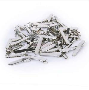 Brandneu 1 Packung / Ca. 50Pcs Blank Metal Hair Clip Duckbill 35mm Kostenloser Versand