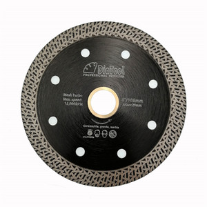 DIATOOL 1pieces Diamond Hot Pressed Diamond Cutting Disc Mesh Turbo Saw Blades for Marble or Granite hard material Dia 4inch 4.5inch 5inch