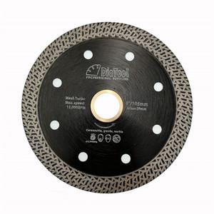 DIATOOL 1 pezzi Diamante Hot Pressed Disco di Taglio Mesh Turbo Saw Lame per Marmo o Granito materiale duro Dia 4 pollici / 4.5 inch / 5 pollici