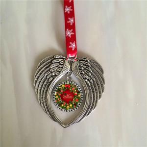 sublimación adornos navideños adornos alas de ángel forma en blanco transferencia en caliente consumibles de impresión suministros nuevo estilo ventas al por mayor