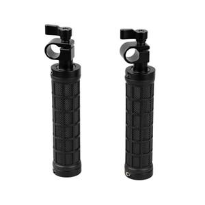 """CAMVATE 2PCS Rod Clamp Poignée Grip Handheld fr 15mm Rod Rig rail support 1/4"""" Vis 'épaule Rig reflex numérique"""