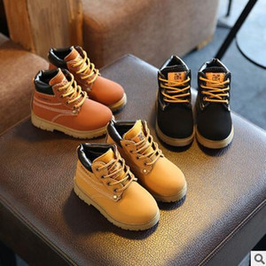 2017 outono inverno venda quente criança botas de algodão casuais crianças antiderrapantes keep warm martin botas de neve meninos meninas sapatilhas sapatos de bebê