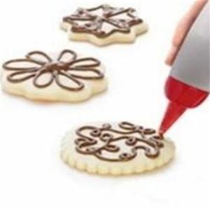 Pratik Silikon Plaka Kalem DIY Kek Tatlı Dekoratörler Pişirme Pasta Araçları Dondurma Çikolata Dekorasyon Şırınga Küçük 2hd cc