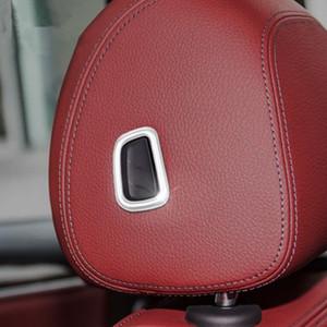 Кнопки регулировки подушки сиденья головы украшения блестками для BMW 5 серии G30 G38 2018 Chrome ABS 3 шт. интерьер автомобиля наклейки