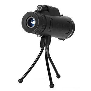 Toptan açık 40X60 Monoküler dahil pusula BAK4 Monoküler Teleskop HD Gece Görüş Prizma Kapsamı