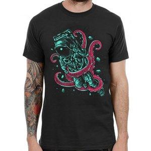 Astronauta Pulpo Gráfico Camiseta Retro Print Trippy Band Dj Hombres Muertos Top Punkcool Casual Pride Camiseta Hombres Unisex Nueva Moda
