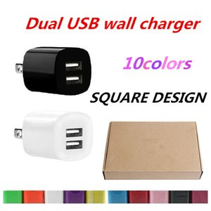 2A +1A Dual USB Ports US Ac home travel wall charger power adapter for samsung galaxy s4 s6 s7 edge note 4 5 pc mp3