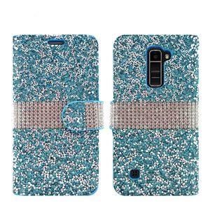 Bling strass étui complet diamant téléphone portefeuille en cuir PU étui de couverture en cuir pour LG K20 plus stylo 3 Aristo X puissance 2 LV7