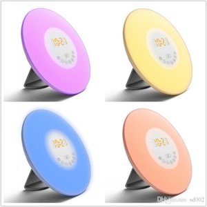 Relojes de alarma de detección de la moda táctil digital con la lámpara de radio FM Noche Puesta de sol LED Diseño Decoración Nueva ZZ 80yz