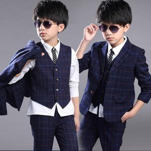 New Children Suit Baby Boys Suits Kids Blazer Boys Formal Suit For Weddings Boys Clothes Set Jackets+Vest+Pants 3pcs 4-12Y