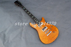 Free shipping G Deluxe '50s New arrival Red orange color red back no fret inlay Electric Guita2018r