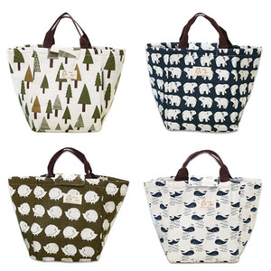 1 PCS Portable Thicken Waterproof Canvas Lunch Insulated Thermal Tote Bag Travel Tote Bag Free Shipping