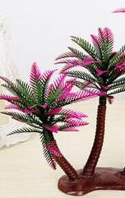 Nuevo diseño Palmera de coco artificial Micro-plástico Paisaje Sandbox Style Palm Island Decoración de plantas artificiales Coco artificial