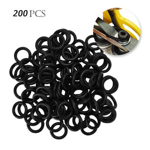 200PCS Stoß- Silikon Tattoo Gummi-O-Ringe 13mm Durchmesser für Tattoo Maschine Federn Teil Schwarz Zubehör Body Art