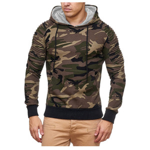 Hoodies Men 2018 Fashion Hoodies Brand Men Camouflage Sweatshirt Male Hoody Tracksuit Hip Hop Autumn Winter Hoodie