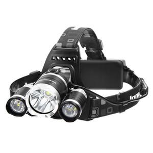 Farol 5000 Lumens LED Lanterna Tocha Farol Brilhante com Baterias Recarregáveis e Carregador de Parede para Caminhadas Camping Equitação Pesca Hu