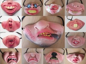 Halloween Zombie Latex Masque Effrayant Demi-Visage Déguisement Parti Drôle Masques Pour Enfants Adultes Cosplay Costume les accessoires Bouffon / Masque Jolly